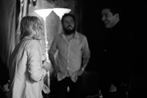 Marcus Mumford and Lissie catching up back stage